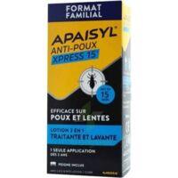 Apaisyl Anti-poux Xpress Lotion antipoux et lente 300ml à GUJAN-MESTRAS