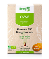 Herbalgem Gomme cassis bio B/24 à GUJAN-MESTRAS