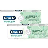 Oral B Pureactiv Dentifrice soin essentiel 2T/75ml à GUJAN-MESTRAS